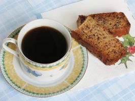 Banana Cake with Coffee by Kitteh-Pawz