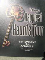 Happiest Haunts Tour Sign by disneyland-stock