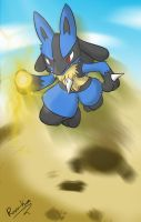 Go Lucario Thunder Punch by ruisu-kun