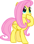 Fluttershy Hoof in Mouth by Triox404