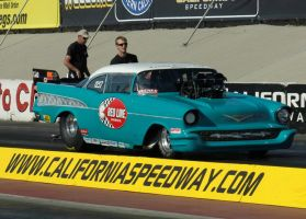 Red Line Oil 1957 Chevy Pro Street by PaladinDova