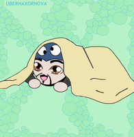 Uberhaxornova Chibi Under Covers by animedugan