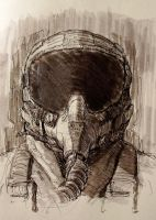 fighter pilot sketch by pvtskwerl