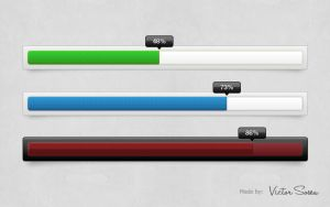 Progress Bar Free PSD by victorsosea