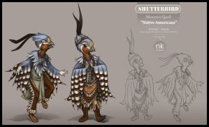 Indians Character design by Nekranea