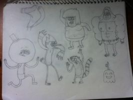 Regular Show Characters (Unfinished) by WolfWarriorWoman