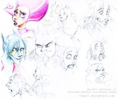 sky doll. sketches by Fukari