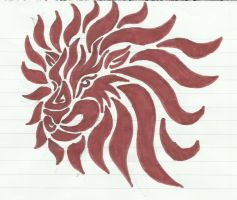 Lion Tribal by Loopy-Lass