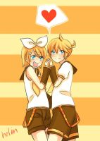 Kagamine Twin by helin666