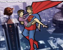 Superman And Lois Lane by buddhapunch