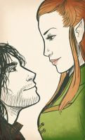 Kili and Tauriel by BehindtheVeil