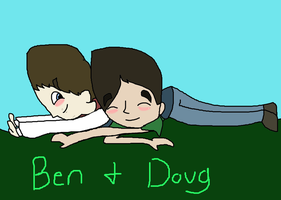 Ben And Doug Fall Together by Ashben11