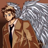 I tried to draw another Castiel by TheHeavenlyError