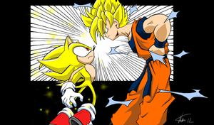Super Sonic vs Super Sayian Goku by Haysey84