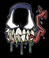 Venom head sticker concept 2 by mostlymade