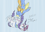 Spitfire and Rarity by GiantMosquito