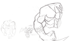 Daily Sketch 48: Body practice ft. The Maxx by ReluctantZombie