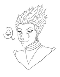 Hisoka - LineArt - WiP by TouchedVenus