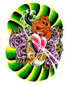 birdy roses heart new skool by WillemXSM