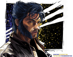 Hugh Jackman as Wolverine w/ Speed Painting by BonnyJohn