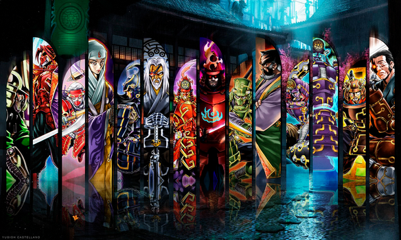 Playmat - Legendary Six Samurai by YGOcastellano