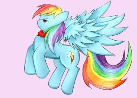 Rainbow Dash the Cool And Collected by Chlo-Zo-Neko