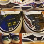Doctor Who Custom Low Tops by atomiksprout
