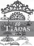 Tiaras brush set 3 by Lileya