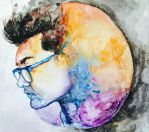 Man on the Moon by aohnna