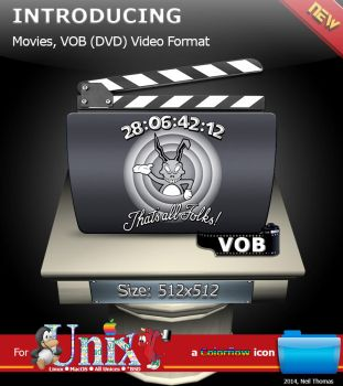 Movies, VOB (DVD) Format folder icon (ColorFlow) by nt291263