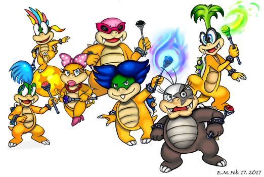 SMB- Koopalings by The-Card-Player