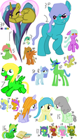 20 Pony Adopts by lindseysdede