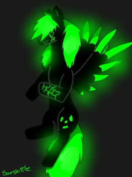 Radioactive Pony Oc by Neonwolf-of-the-sky