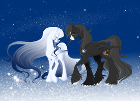 Soul Whisper and ShootingStar by WhiteWing1 by Little-shewolf9
