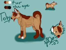 Toby ref sheet by JiiBee