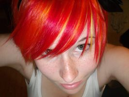 Part of my rainbow hair by ScreamEmotion