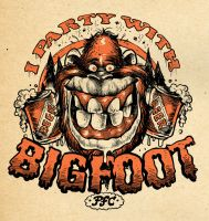 BigFoot Party Shirt by blitzcadet