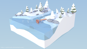 Frozen Coast - Low Poly Diorama by CaptnCarlo