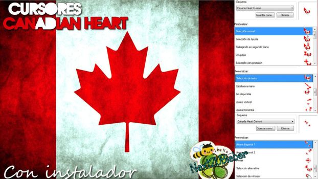 Canadian Heart Cursors by Cursorsandmore