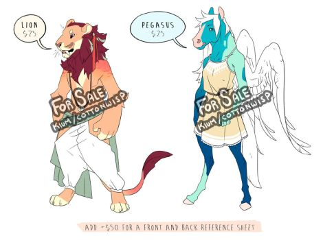 Lion and Pegasus Adopts by Kium