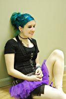 Blue haired Dancer by angelsfalldown1