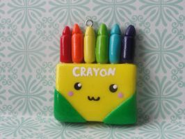 Kawaii Clay Crayon Box by CraftyOlivia
