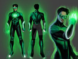Green Lantern: Emerald Ensemble Entry -Kyle Rayner by omegaseraphx