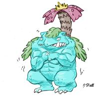 Venusaur by JHALLpokemon