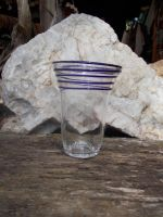 Wrapped Glass, Clear with Blue by Bendzunas-Glass