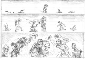 Zombie Years Page 25 pencils by FWACATA