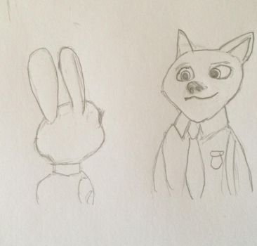 Nick and Judy-Police Partners by CrazyWhovian11