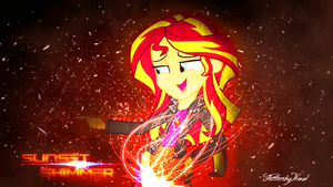Sunset Shimmer Wallpaper by FluttershyIkmal