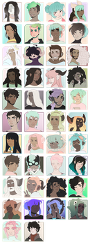 ToyHou.se Character Icons by Cybambie
