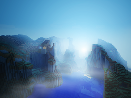 Foggy morning in Minecraft by Xeehsl